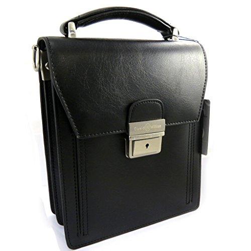 Hombre bolsa 'David William'negro (2 pliegues).