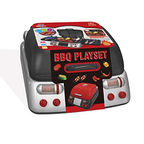SXJC Kinder Kochgeschirr Zubehör Küchenspielzeug Pädagogisches Lernen Spielzeug Rollenspiele BBQ Food Spielzeug Bildung Kinder Geschenk Junge Mädchen,Rot -