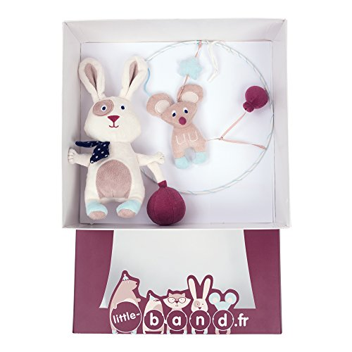 LITTLE BAND Coffret Bébé Peluche Lapin/Attrape-Rêve
