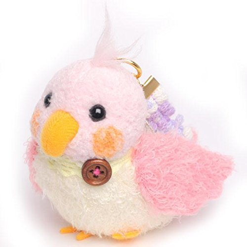 soft-and-downy-mini-bird-plush-type-ball-chain-carabiner-strap-pink