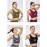 BFWX Sport-BH Atmungsaktive Yoga-Bekleidung Weibliches Nacktes Nylonwesten-Sport-Fitness-Shirt -