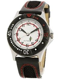 Cactus CAC-26-M01 - Reloj analógico infantil de cuarzo con correa de plástico negra