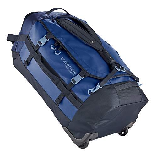 Eagle Creek Cargo Hauler Wheeled Duffel 130L, faltbare Reisetasche mit Rollen, großes Duffle Bag, abrieb- & wasserbeständiges TPU-Gewebe, Rucksacktragegurte, in Arctic Blue, XXL