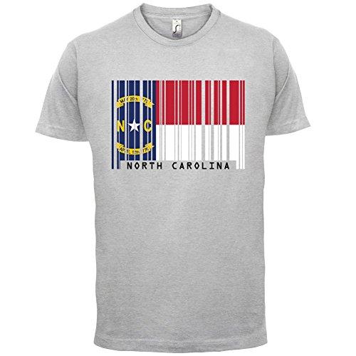 North Carolina / Nord-Carolina Barcode Flagge - Herren T-Shirt - Hellgrau - M