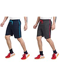 V D Sales™, Combo Pack of Blue & Rust Grey Shorts