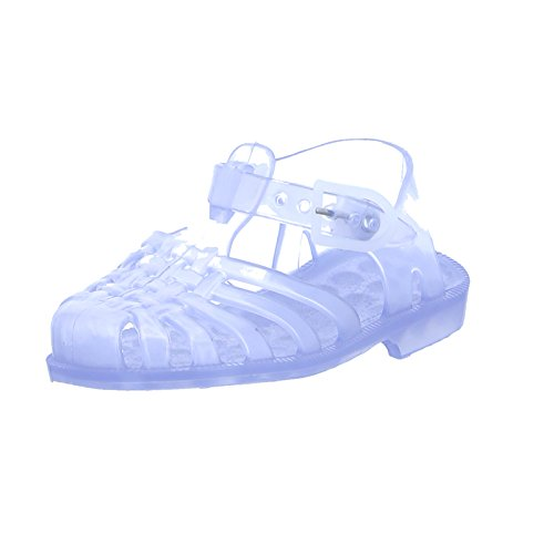 Meduse Méduse Kinder Badeschuh Sun 201 Christal Unisex Sandale PVC Gummi Durchsichtig, Größe 23