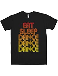 Refugeek Tees - Hommes Eat Sleep Dance T Shirt - Large - Black