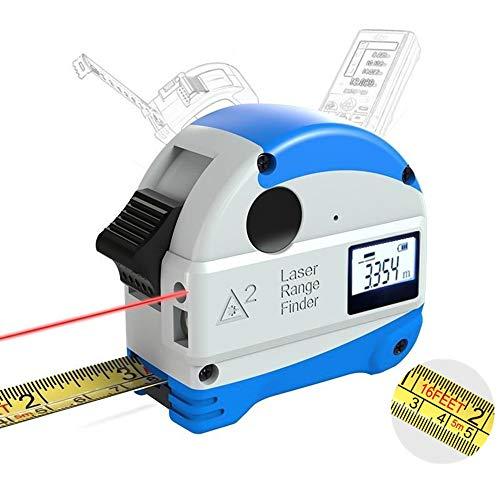 Fesjoy 30M Laser-Entfernungsmesser + 5M Anti-Fall-Stahlband Metrisch und Zoll Maßband Hochpräziser Entfernungsmesser -