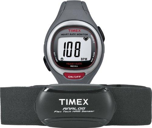 Timex T5K729F7 - Orologio da polso unisex, cinturino in resina colore (Fitness Trainer Heart Rate Monitor)