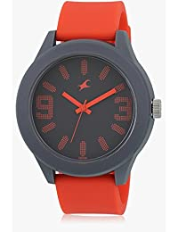 Fastrack Analog Orange Black Dial Men's Watch - 38003PP08J