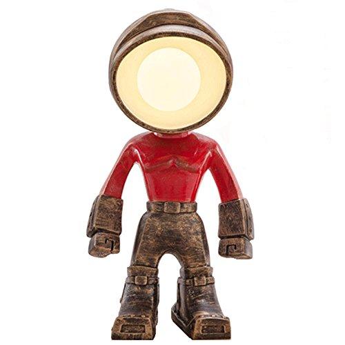 QINAIDI Knopf-Steuerroboter Führte Kinderbüronacht-Nachtlicht-Arbeits-Innendesktop-Beleuchtung (Rote, Graue, Silberne Und Gelbe Reihe),Red