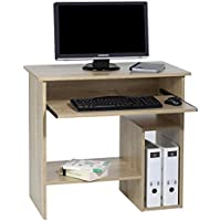 CARO-Möbel Computertisch Schreibtisch PC Tisch Lotta, in Sonoma Eiche, mit Tastaturauszug, 80 cm Breit preisvergleich bei kinderzimmerdekopreise.eu