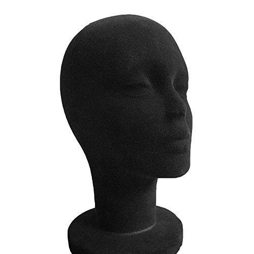 Feina maschio manichino manichino testa di schiuma di polistirolo modello manichino testa con superficie tessuto per Headset occhiali cappello