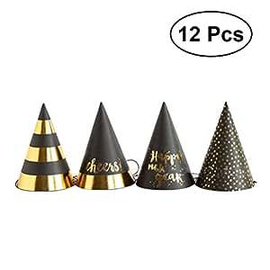 TOYMYTOY New Year Party Hüte Kegel Hüte Neujahr Party Supplies, 12 stücke