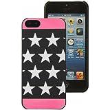 Mocca Design CI5S52 Coque pour iPhone 5/5S Motif Etoiles Rose Phosphorescente