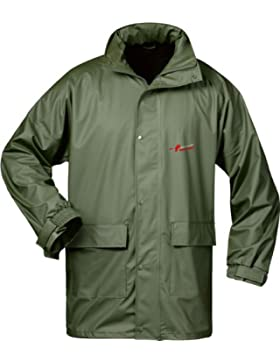 Norway PU chaqueta de lluvia con capucha – verde oliva –Tamaño: L