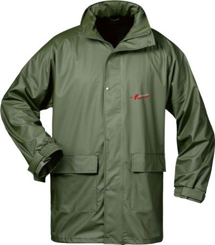 NORWAY PU Regen-Jacke mit Kapuze - oliv - Größe: XXL - Roll-kragen-jacke