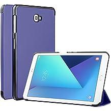 Samsung Galaxy Tab A 10.1 Funda Case - IVSO Slim Smart Cover Funda Protectora de Cuero PU para Samsung Galaxy Tab A 10.1 2016 T580N/T585N Tablet(Azul)