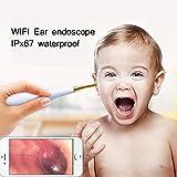 JM-D Ear Endoscope Otoscope WiFi HD 720P avec caméra d'inspection étanche Ear Scope...