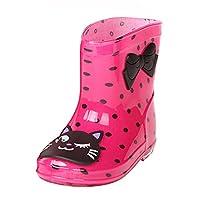 Rain Boots Kids Boys Girls Wellies Boots Rainy Print PVC Wellington Boots Cartoon Ankle Boots Kootk