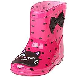 Unisex Stivali Bambini Ragazzi Ragazzie Rain Boots - Stivali Pioggia Bambina Bimbo Gomma Scarpe Highdas
