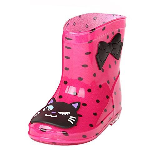 Juleya Mädchen Jungen Gummistiefel - Unisex Kinder Anti-Rutsch Stiefel Regenstiefel Rain Boots mit Tiermuster