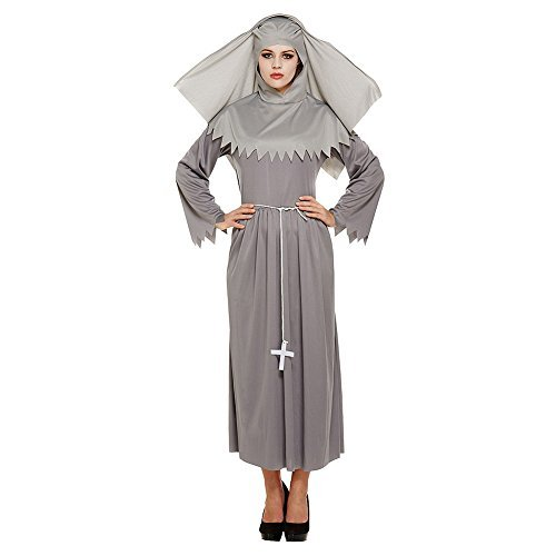 Costume Fancy Dress Suora Spirit Sister Blue Banana (Grigio) - Taglia Unica