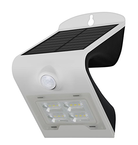 LED Wand Licht Auto Sensor (2W) - Solarleuchte mit Bewegungsmelder Auto on/off. IP65 Platz,Weg,Tür Hausnummern Beleuchtung Kabellos einfache Montage -