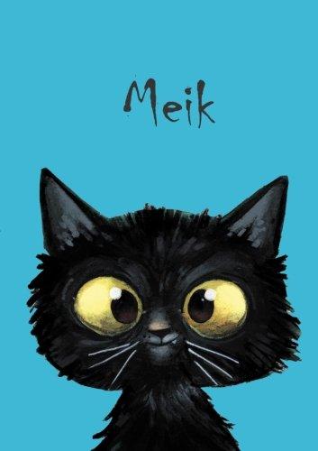 Meik: Meik - Katzen - Malbuch / Notizbuch / Tagebuch: A5 - blanko