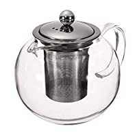 650ML Heat Resistant Glass Tea Pot,Chinese Flower Tea Set Pure Kettle Coffee Teapot for Office Home
