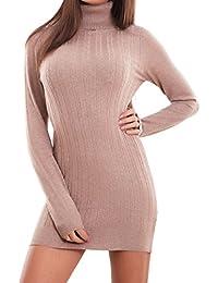 4ebb3278ad71 Toocool - Vestito Donna Miniabito Corto Elasticizzato maxipull Collo Alto  Sexy Nuovo 2109