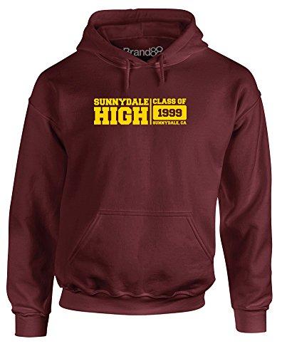 Brand88 Sunnydale High School, Adult's Hoodie Imprimé - Bordeaux XL = 116-121cm
