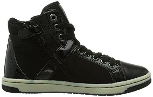 Geox JR CREAMY C Mädchen Hohe Sneakers Schwarz (C9999BLACK)