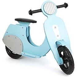 """small foot 11979 Draisienne Scooter """"Bella Italia"""" en bois, pour les enfants à partir de 3 ans (bleu)"""