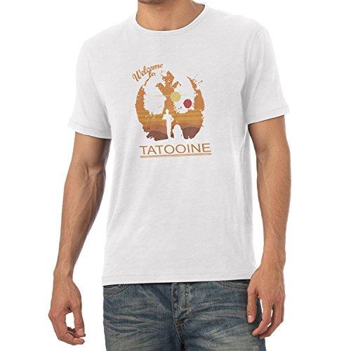 TEXLAB - Welcome to Tatooine - Herren T-Shirt Weiß