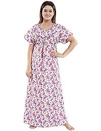 fed86e86f TUCUTE Women s Girls Poly-Cotton Crush Fabric Beautiful Print Nighty Night  Gown