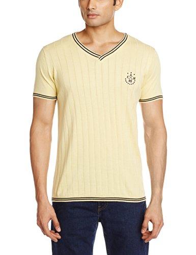 JACK & JONES Men's V-Neck T-Shirt (Mellow Yellow) (5712064375011)