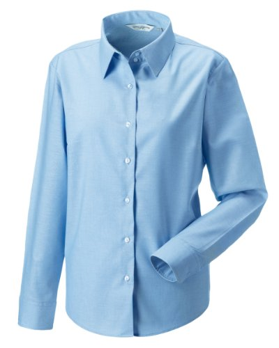 russell-collection-ladies-womens-long-sleeve-easy-care-oxford-shirt-5xl-oxford-blue