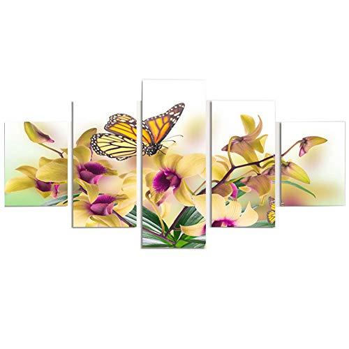 ZHAONI Cuadro 200X100 Cm   Flores Amarillas   Impresión