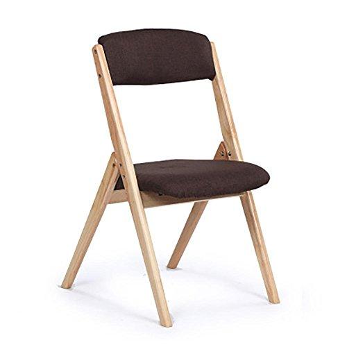 SFZMRYLSY Klappbarer Stuhl aus Holz Einfarbig Faltbarer Stuhl Arc Design Essensstuhl Rückenlehne...