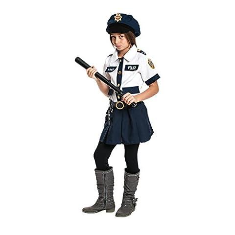 Kostümplanet® Polizei-Kostüm Kinder Mädchen Polizistin-Kostüm mit Polizeitmütze + Handschellen + Schlagstock Karneval-Kostüme Kind Größe