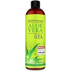 Aloe Vera Gel 99% Bio, 355 ml - ÖKO-TEST Sehr Gut - 100% Natürlich, Rein & Ohne Duftstoffe (Alkoholfrei, Kein Parfüm/WC-Duft) - Einzigartige Vegane Formel OHNE XANTHAN - aus ECHTEM SAFT, NICHT PULVER
