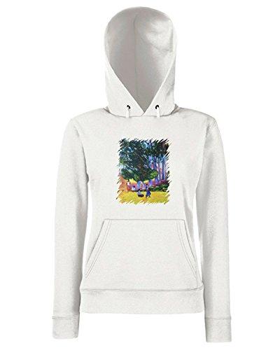 T-Shirtshock - Sweats a capuche Femme TDA0010 gauguin126 figure presso un villaggio Blanc