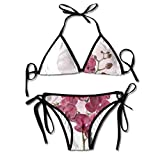 Nature Blossom Plant Flower Women's Sexy Bikini Set Swimsuit Bathing Suit Triangle Swimwear