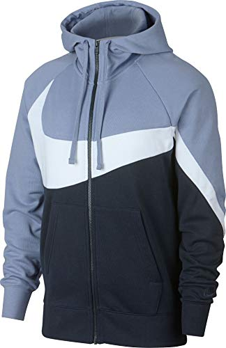 Nike Herren Full-Zip French Terry Hoodie Indigo Fog/White Obsidian, S -