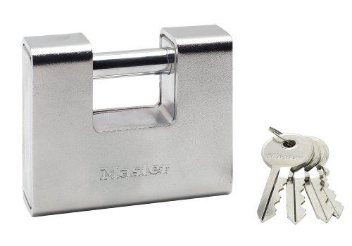 Master Lock 690EURD Candado Rectangular, Plateado, 90 mm