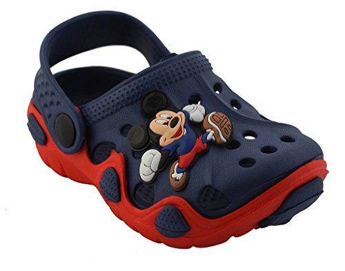 Lil Firestar Unisex Kids Eva Sandals Crocs Clogs_Red & Blue_8KIDSUK/26EU  available at amazon for Rs.419