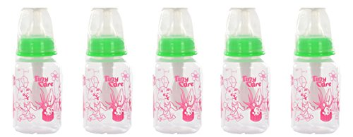 Tiny Care Challenger Baby Feeding Bottle(Pack Of 5,120 Ml)