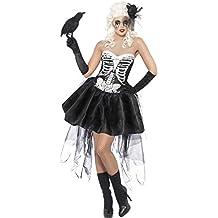Costume Carnevale Halloween Travestimento Scheletro Sexy- horror donna