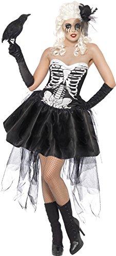 Smiffys costume carnevale halloween travestimento scheletro sexy- horror donna